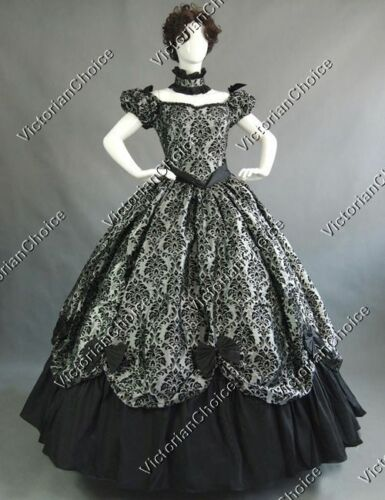 Victorian Dresses, Clothing: Patterns, Costumes, Custom Dresses    Southern Belle Victorian Princess Fancy Dress Ball Gown Halloween Costume N 323 $165.00 AT vintagedancer.com