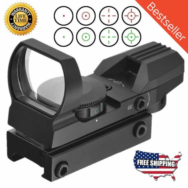 Red//Green Dot Sight Reflex Holographic Scope Tactical Rifle Mount 20mm Rails