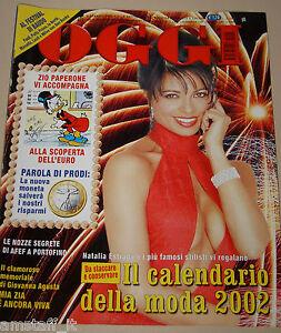 Natalia Estrada Calendario.Details About Oggi 2002 2 Natalia Estrada Copertina Calendario Afef Alessia Federica Merz