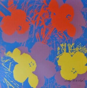 Fiori Warhol.Andy Warhol Poppy Flowers 1986 Hand Numbered 1282 2400 Signed