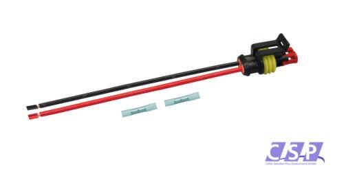 AMP Superseal Buchse 2-polig H07V-K 1,50² 250mm Stecker Elektrik Steckverbinder