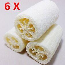 6 X Natural Loofah Luffa Loofa Bath Body Shower Sponge Scrubber HOT