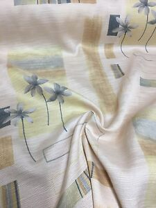 BEAUTIFUL CHAMPAGNE FLORAL SUMMER PRINT CURTAIN FABRIC 5 METRES - manchester, United Kingdom - BEAUTIFUL CHAMPAGNE FLORAL SUMMER PRINT CURTAIN FABRIC 5 METRES - manchester, United Kingdom