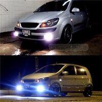 White Halo Fog Lamp Angel Eye Driving Light Kit + Harness For Hyundai Getz