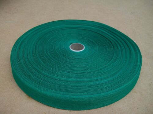 "BINDING TAPE POLYESTER 36mm 112"" GREEN 100 mtrs"