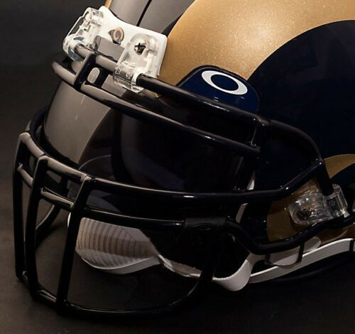 ST NAVY BLUE LOUIS RAMS Schutt ROPO-DW Football Helmet Facemask//Faceguard