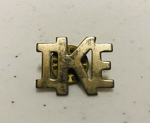 Vintage IKE Presidential Campaign Gold Tone Tie Lapel Hat Pin Pinback