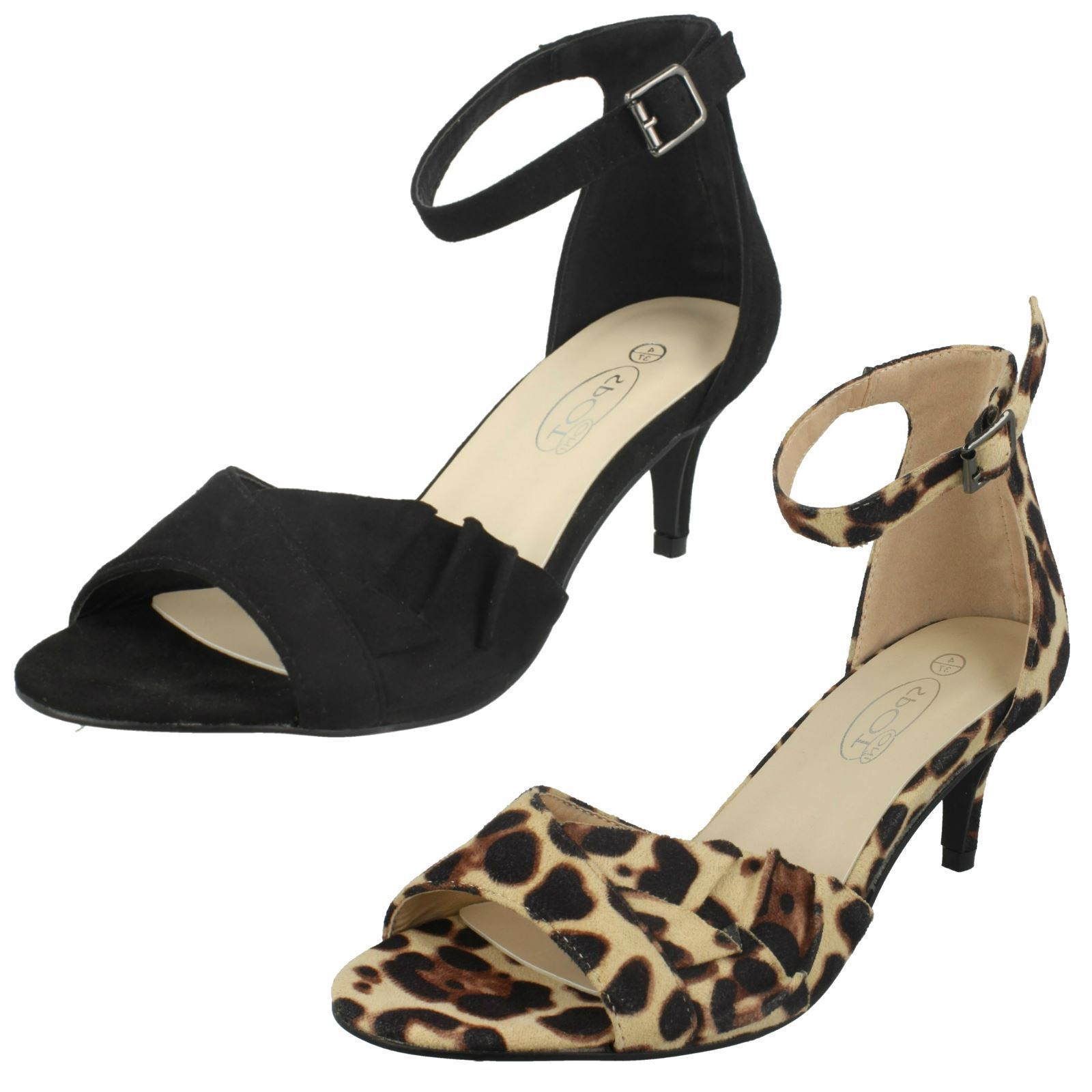 Ladies F1R0847 Peep Toe Court shoes By Spot On Retail Price