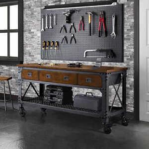 Image Is Loading Rolling Workbench Tool Storage Garage Work 3 Drawers