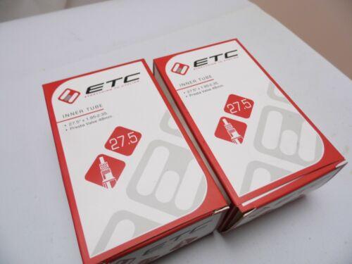 27.5 X 1.95-2.35 Presta Valve 48 mm 2 X etc 650B Vélo MTB inner tubes