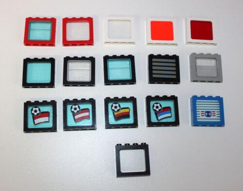 Lego Fenster Rahmen Scheiben 4033 4034  viele Farben große Auswahl 42