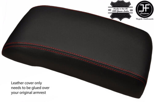 Red stitch cuir véritable accoudoir couverture s/'adapte ford mondeo 2003-2006