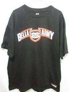 WWE-Wrestling-Bella-Armee-Muster-Schwarz-Logo-T-Shirt-Tee-Erwachsene-Maenner-2xl-xxl