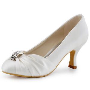 Spool Heel Wedding Shoes