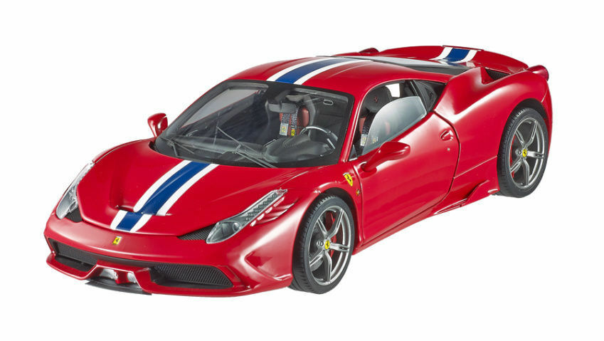 HOT WHEELS ELITE Ferrari 458 Speciale Red bluee Stripe 1 18 Almost Sold Out