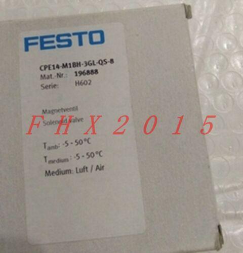 ONE NEW FESTO CPE14-M1BH-3GL-QS-8 196888 Solenoid Valve