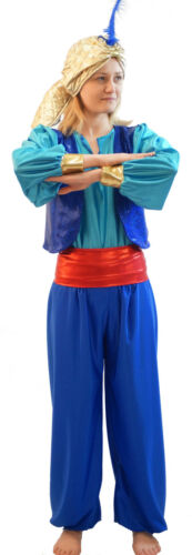 World Book Day-Panto-Aladdin BLUE GENIE OF THE LAMP /& SULTAN HAT with FEATHER