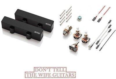 Emg Jhz Set Black Passive Jazz J Bass Pickups Replaces Fender