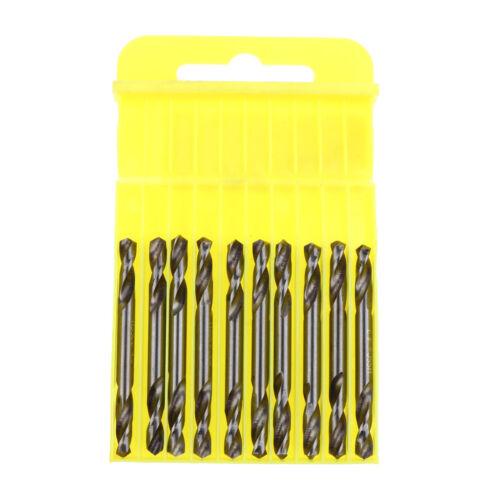 10 Pieces Dia 4.2mm HSS Colbalt Double End Drill Bits Twist Drill Bit Sharp