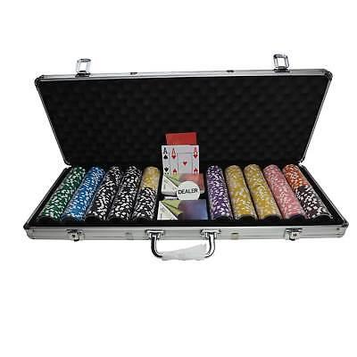 Pokerkoffer Pokerset Pro 500 13g Clay Chips selbst zusammenstellen Plastikkarten