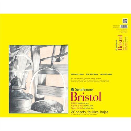 """Strathmore Bristol Smooth Blocco di carta Fogli 19/""""x24/""""-20"""