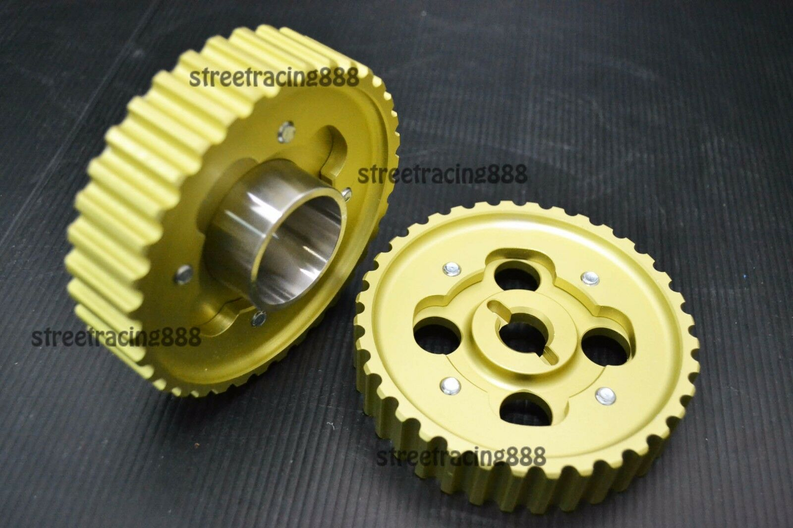Racing Toyota Levin Corolla 4AGE 16V Cam Gear Pulley AE86 AE92 AE82 Pair NEW