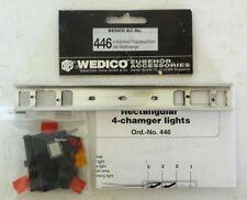 Wedico Polished Aluminum Bumper w/ 4 Chamber Lights, No. 446