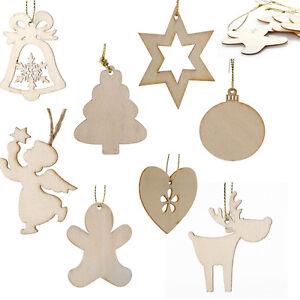 holz weihnachtsanh nger set christbaumschmuck weihnachten deko elch engel sterne ebay. Black Bedroom Furniture Sets. Home Design Ideas