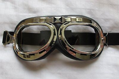 Biggles WWII Style Flying GOGGLES WW2 style Bomber Aviator Goggles Steam Punk .