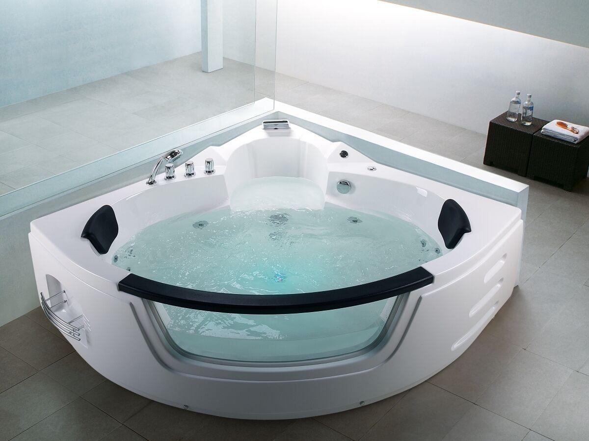 De Luxe Whirlpool Whirlpool Luxe Baignoire 155 Cm Avec Verre