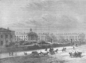 THE OLD KENT ROAD. The Licensed Victuallers' asylum. London c1880 print