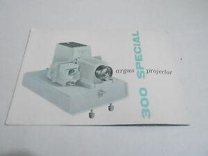 1950s 1960s slide projector manual 44 argus 300 special ebay rh ebay com Argus 500 Slide Projector Cartridges Argus 300 Slide Projector Parts