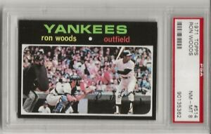 SET BREAK -1971 TOPPS #514 RON WOODS, PSA 8 NM-MT, NEW YORK YANKEES,  CENTERED