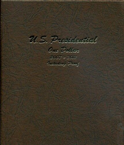 P /& D Whitman Classic Coin Album # 2227 For Presidential Dollars From 2007-2016