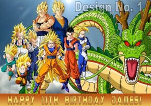 Image Is Loading Dragon Ball Z Gaming Monsters Personalised Large Birthday