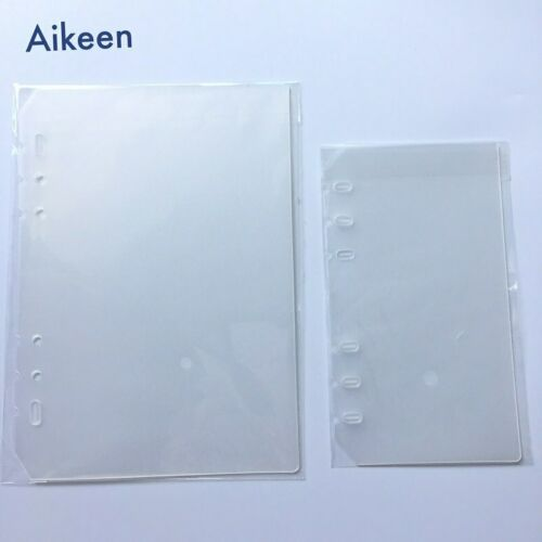 Aikeen® 2pcs A5A6 PP Loose Leaf  Binder Simply Notebook Inner Binder Transparent