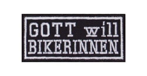 Dieu veut Biker intérieur Patch écusson Biker Rocker Blouson Lady Femme Chick Bad Girl