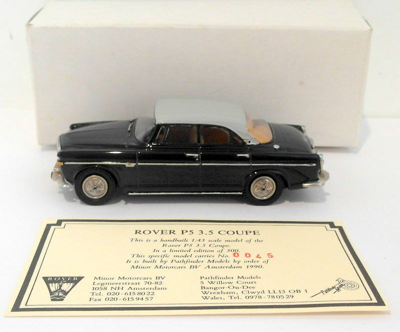 Pathfinder Minor Motorcars 1 43 Scale PFM045 - Rover P5 3.5 Coupe 1 Of 300