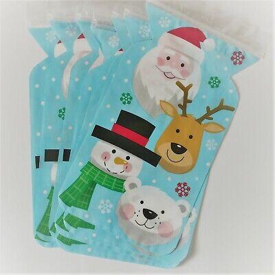 6 X CHRISTMAS Snowman Zipper TREAT Bags Sweets FESTIVE Chocolate Loot xmas