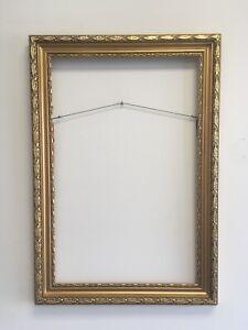 Aesthetic-Art-Deco-Art-Nouveau-Design-Wood-Picture-Frame-Fits-18-034-x28-034-Gold