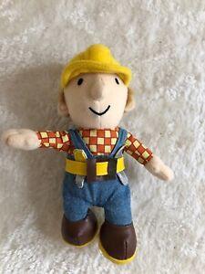 """Carino Bob The Builder Giocattolo Morbido Peluche 9"""" N"""