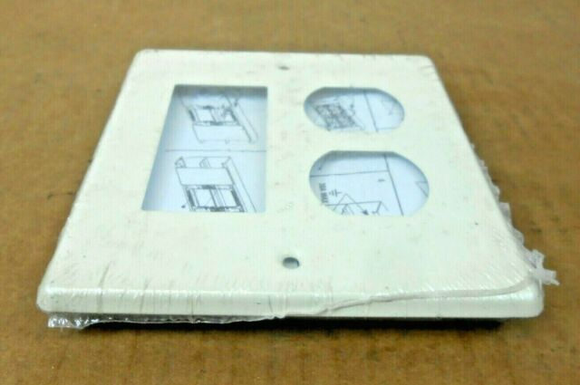 10 NIB WIREMOLD V4047AX 2-GANG SINGLE ROUND OPENING FACEPLATE IVORY 2 AVAIL
