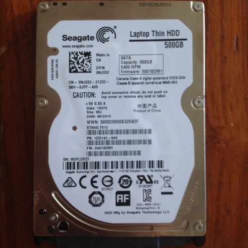 "NEW Seagate 500GB Momentus Thin 2.5/"" 7mm ST500LT012 HDD Laptop Hard Drive"