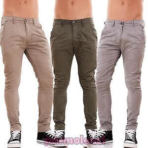 Pantalones-de-hombre-pitillo-slim-fit-chino-colorido-casual-algodon-bolsillos