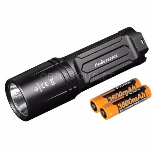 2018 Rechargeable Flashlight w// 2x 3500mAh 18650 Battery Fenix TK35 Ultimate Ed