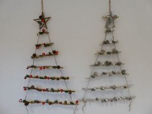 Details About Uk Gardens 1m Rustic Pine Cone Bauble Wall Hanging Flat Christmas Tree