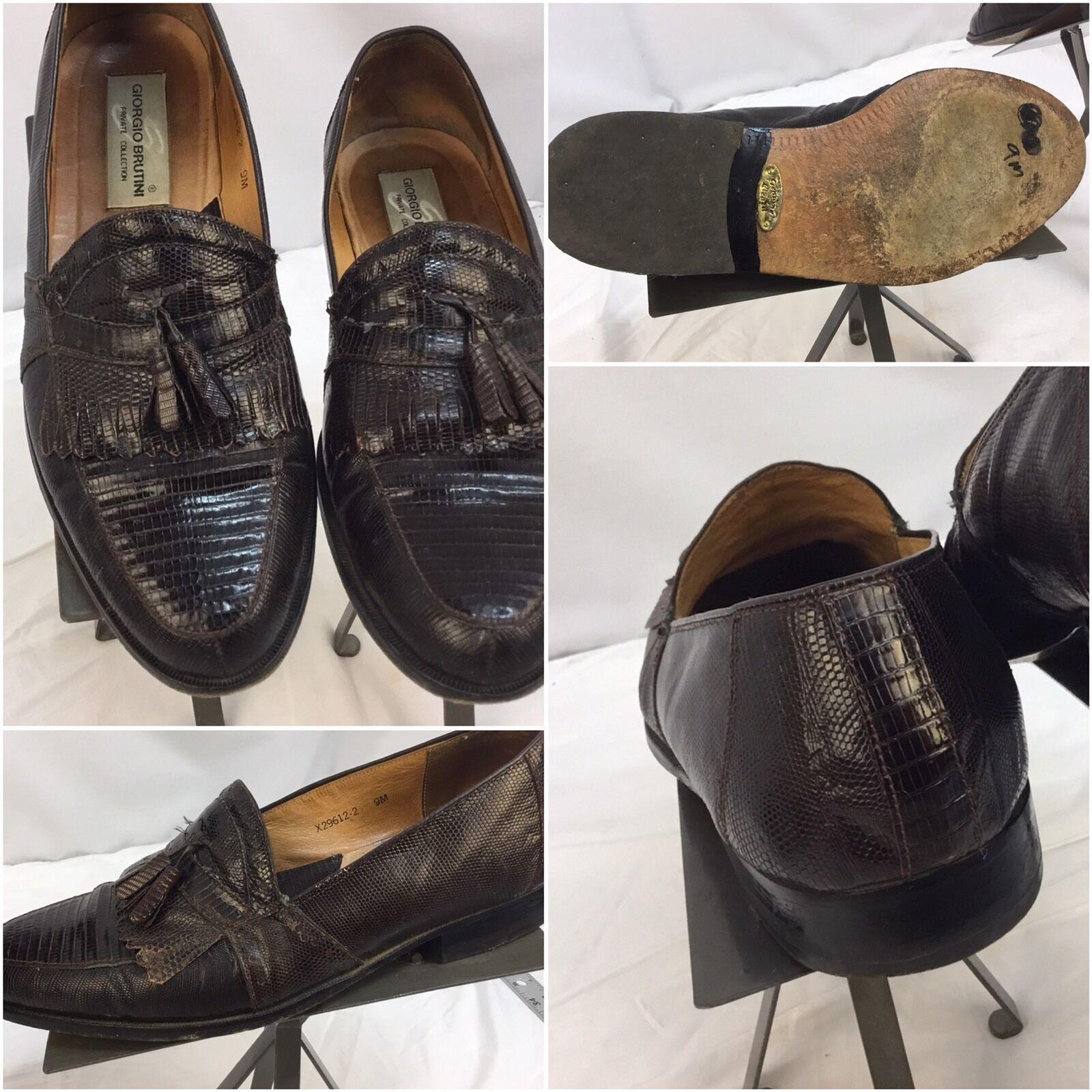 acquista online oggi Giorgio Brutini Dress scarpe 9 M Marrone Loafer Lizard Lizard Lizard Private Collection YGI E7  autentico online
