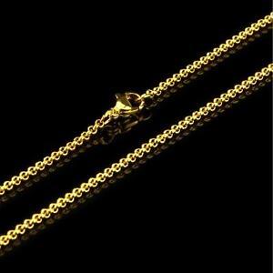 682fb65aa411 Cadena Belcher 2mm 999 bañado en oro 24 Quilates MUJER HOMBRE ORO ...