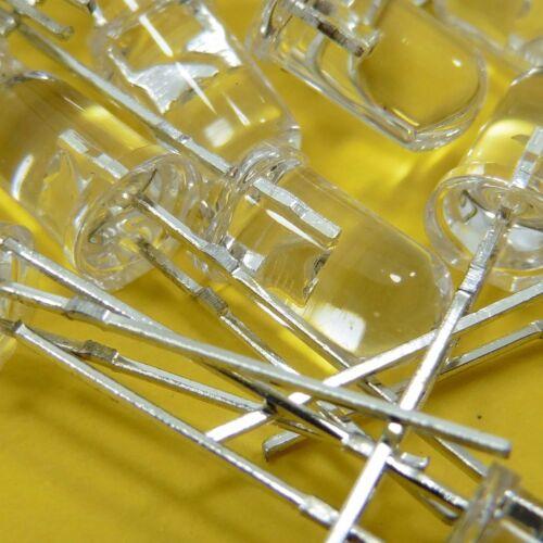 5 mm Transparent Clear DEL 1.75 V 2.2 V rouge diodes émettrices de lumière