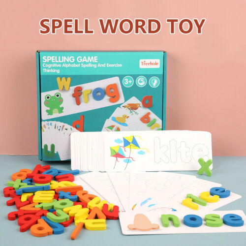 Toddlers Preschool Learning Toys Wooden ABC Pet Alphabet Letters Puzzles Card###